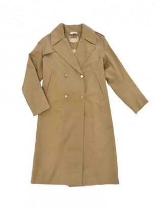 Sandro Beige Cotton Trench Coat for Women