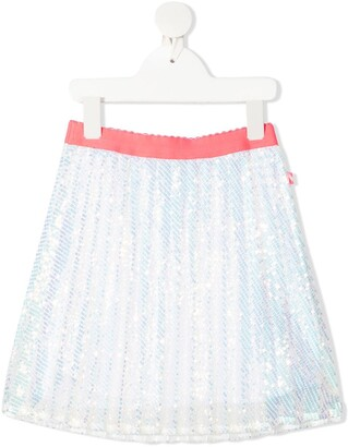 Billieblush Pleated Sequin Skirt