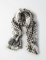 American Eagle Outfitters AE Double Weave Plaid Scarf