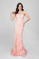 Terani Prom - Stunning Embroidery Sweetheart Polyester Full Length Hemline Mermaid Gown 1711P2387.