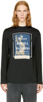Miharayasuhiro Black Long Sleeve Logo T-shirt