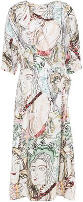 3.1 Phillip Lim Knotted Printed Silk-satin Twill Dress