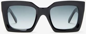 Celine Oversized Square Acetate Sunglasses - Black