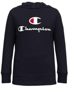 "Champion Little Girls Hooded Jersey ""C"" Script Tee"