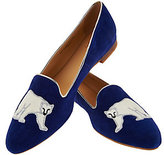 C. Wonder As Is Suede Loafer with Polar Bear Embroidery
