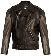 Vetements X Schott Perfecto oversized leather jacket