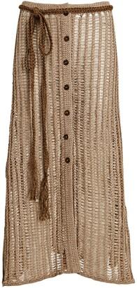 Solid & Striped Vivienne Crochet Midi Skirt