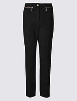 Per Una Cotton Rich Slim Leg Trousers
