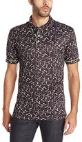 Robert Graham Men's Hills of Sand Short Sleeve Knit Polo