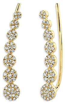 Moon & Meadow 14K Yellow Gold Diamond Disc Ear Climber Earrings - 100% Exclusive