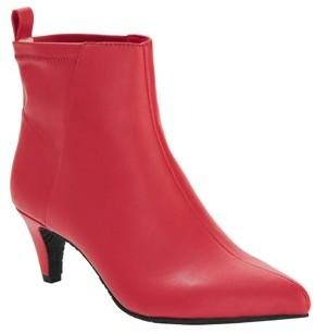 Melrose Ave Vegan Leather Slip-on Kitten Heel Bootie (Women's)