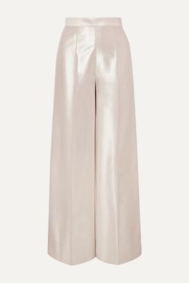 RALPH & RUSSO Lame Wide-leg Pants - Silver