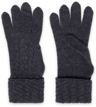 N.Peal Cable-knit Cashmere Gloves