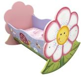 Teamson Magic Garden Rocking Doll Bed