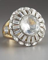 Round-Cut Crystal Ring