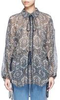 Chloé Oriental print silk crépon blouse