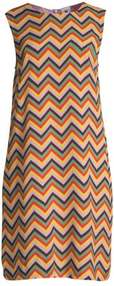 M Missoni Chevron Crepe Shift Dress