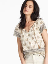 Lucky Brand Border Printed Top