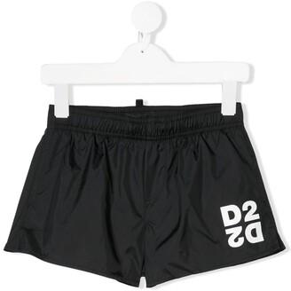 DSQUARED2 Contrasting Logo Print Swimming Shorts