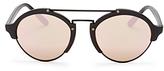 Illesteva Mirrored Milan Ii Round Sunglasses, 53mm
