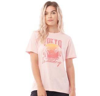 Tokyo Laundry Womens Palma T-Shirt Pink
