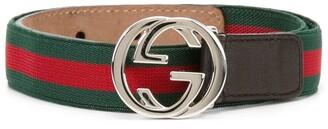 Gucci Kids Web GG buckle belt