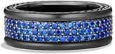 David Yurman Streamline Three-Row Band Ring with Sapphires