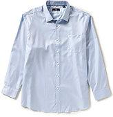 Hart Schaffner Marx Solid Twill Long-Sleeve Woven Shirt
