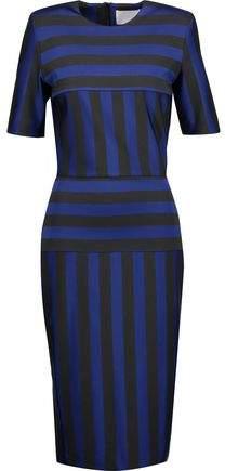 Dion Lee Striped Stretch-Cady Midi Dress