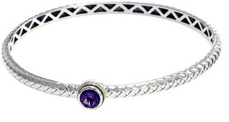 Effy Fine Jewelry Silver & 18K 0.85 Ct. Tw. Amethyst Bangle Bracelet