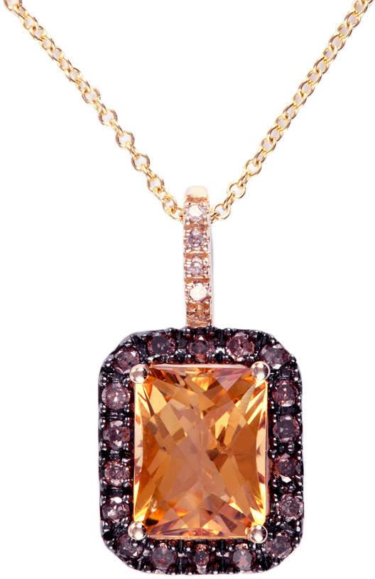 Effy Fine Jewelry 14K 2.38 Ct. Tw. Diamond & Citrine Necklace