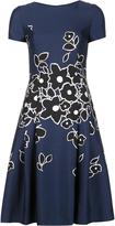 Carolina Herrera floral print dress - women - Silk/Wool - 6