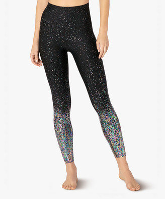 Beyond Yoga Women's Leggings BLGMS - Black & Gunmetal Ombre Speckle High-Waist Leggings - Women