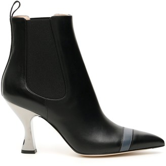 Fendi Pointed Toe Heel Ankle Boot