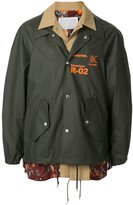 Kolor contrast logo print jacket