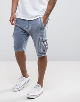 Soul Star Burn Out Jersey Cargo Shorts