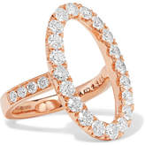 Anita Ko Oval Halo 18-karat Rose Gold Diamond Ring