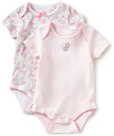 Starting Out Baby Girls Newborn-6 Months Floral Short-Sleeve Bodysuit 2-Pack