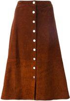 Diane von Furstenberg buttoned midi skirt - women - Suede/Polyester/Spandex/Elastane - 4