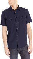 Calvin Klein Men's Short Sleeve PD Cotton Tencel