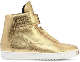 Lvl Xiii Rowan Metallic Leather Sneakers