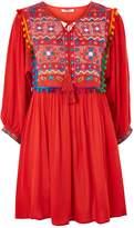 Glamorous **Embroidered Festival Skater Dress