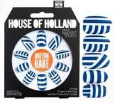 Elegant Touch House of Holland Blue and White Breton Babe False Nails by