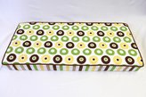 Bacati Modern Dots/Stripes Green, Yellow, Chocolate Dots Changing Pad Cover