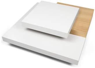 Temahome Slate Coffee Table, Pure White/Oak