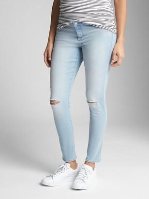 Gap Maternity Inset Panel Favorite Ankle Jeggings