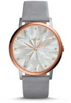 Fossil Vintage Muse Three-Hand Graystone Leather Watch