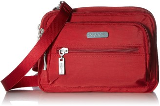 Baggallini Unisex's Triple Zip Cross Body Travel Bag