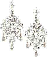 Jose & Maria Barrera Large Crystal Filigree Chandelier Earrings