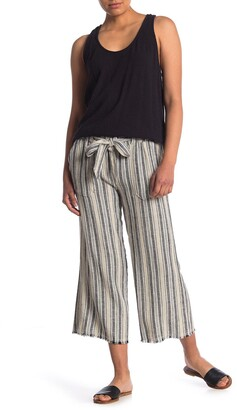 Caslon Striped Tie Waist Crop Pants